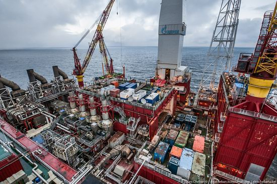 Oil production on the shelf in the Russian Arctic, photo 13