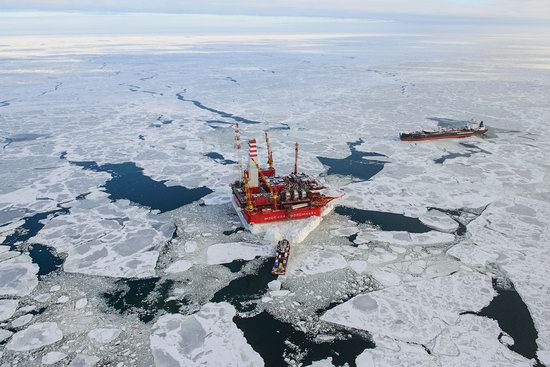 Oil production on the shelf in the Russian Arctic, photo 19