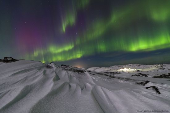 The sky in shades of emerald in northern Russia, photo 10