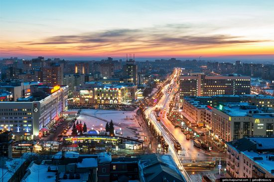 Winter Perm city from above, Russia, photo 1