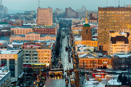 Winter Perm city from above, Russia, photo 10