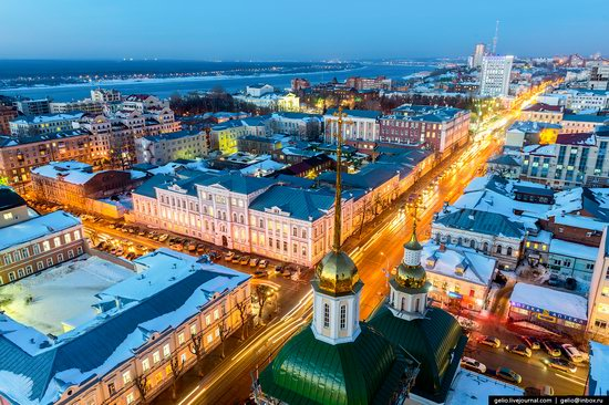 Winter Perm city from above, Russia, photo 11