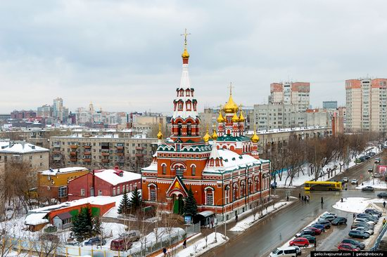 Winter Perm city from above, Russia, photo 12