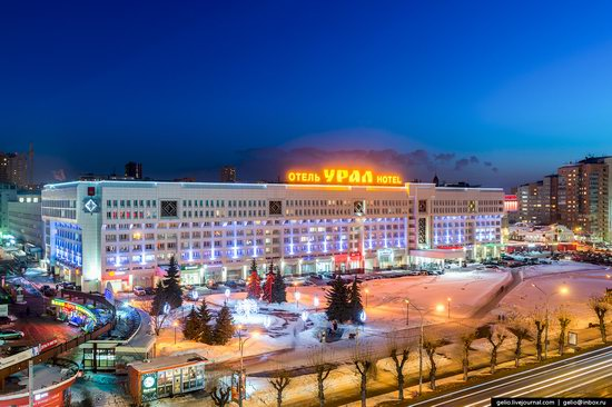 Winter Perm city from above, Russia, photo 13