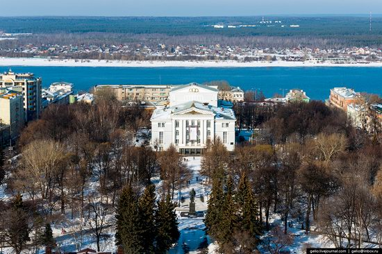 Winter Perm city from above, Russia, photo 14