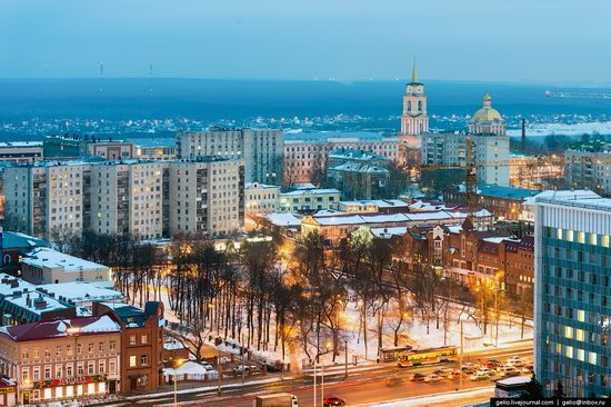 Winter Perm city from above, Russia, photo 15