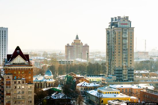 Winter Perm city from above, Russia, photo 16