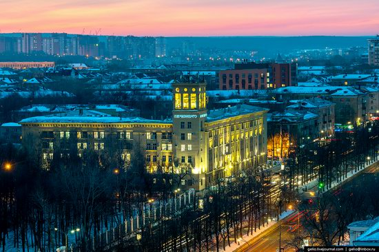 Winter Perm city from above, Russia, photo 17
