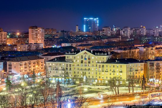 Winter Perm city from above, Russia, photo 18