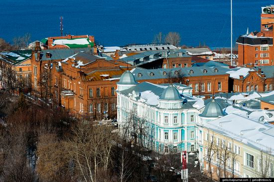 Winter Perm city from above, Russia, photo 19