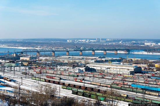 Winter Perm city from above, Russia, photo 20
