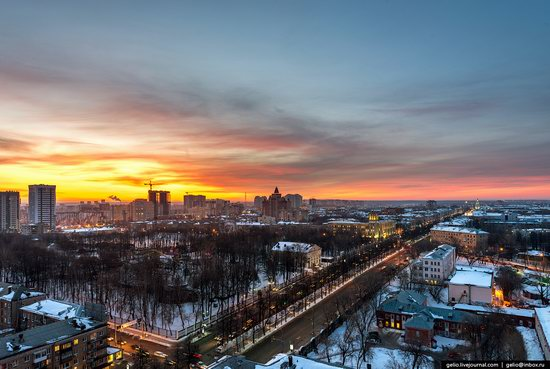 Winter Perm city from above, Russia, photo 21