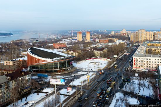 Winter Perm city from above, Russia, photo 22