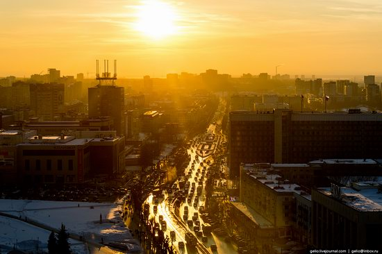 Winter Perm city from above, Russia, photo 25
