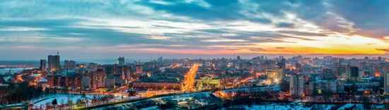 Winter Perm city from above, Russia, photo 26