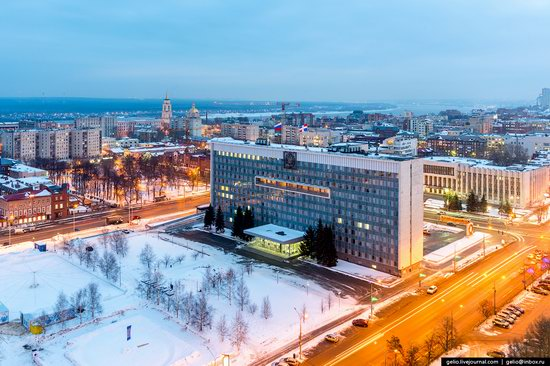 Winter Perm city from above, Russia, photo 5