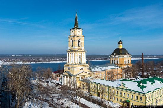 Winter Perm city from above, Russia, photo 6
