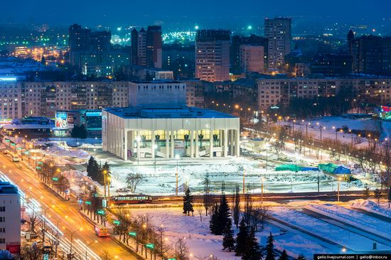 Winter Perm city from above, Russia, photo 7