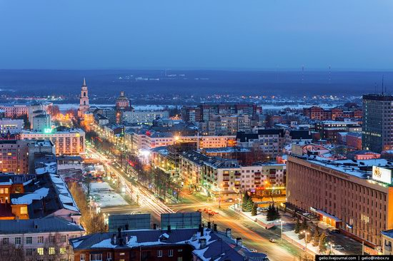 Winter Perm city from above, Russia, photo 9