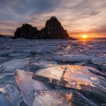 The beauty of the ice of Lake Baikal