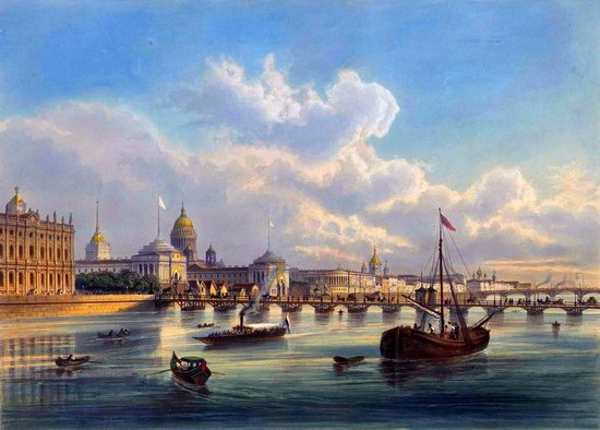 St. Petersburg in the 1850s in Daziaro lithographs, Russia, picture 1