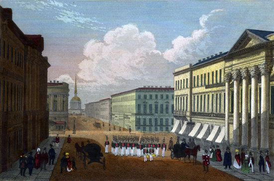 St. Petersburg in the 1850s in Daziaro lithographs, Russia, picture 10