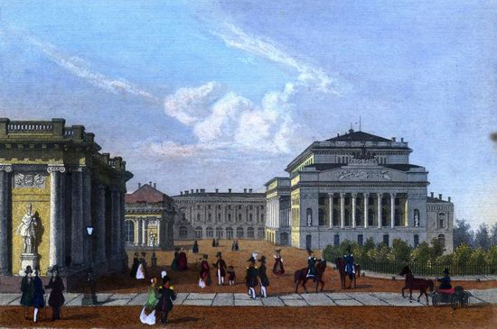 St. Petersburg in the 1850s in Daziaro lithographs, Russia, picture 11