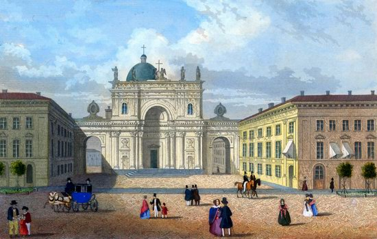 St. Petersburg in the 1850s in Daziaro lithographs, Russia, picture 13