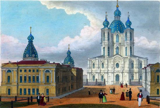 St. Petersburg in the 1850s in Daziaro lithographs, Russia, picture 14