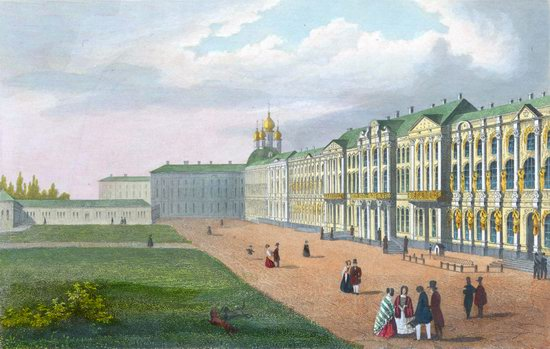 St. Petersburg in the 1850s in Daziaro lithographs, Russia, picture 15