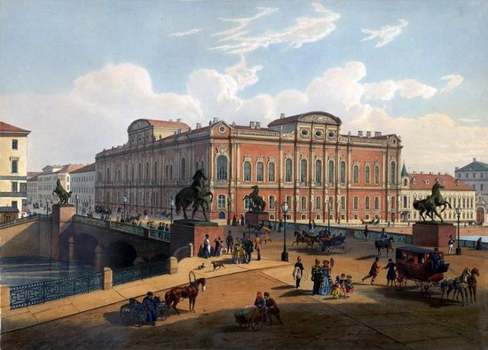 St. Petersburg in the 1850s in Daziaro lithographs, Russia, picture 16