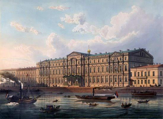 St. Petersburg in the 1850s in Daziaro lithographs, Russia, picture 17