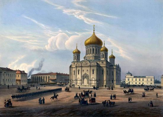 St. Petersburg in the 1850s in Daziaro lithographs, Russia, picture 18