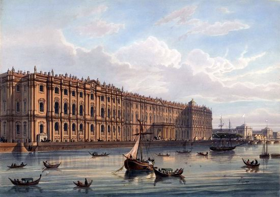 St. Petersburg in the 1850s in Daziaro lithographs, Russia, picture 19
