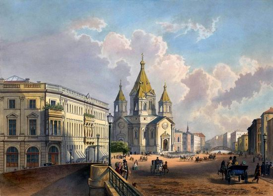 St. Petersburg in the 1850s in Daziaro lithographs, Russia, picture 20