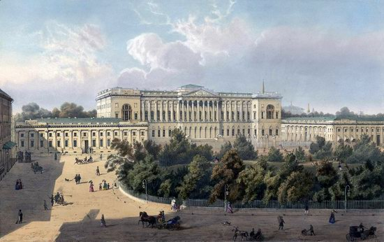 St. Petersburg in the 1850s in Daziaro lithographs, Russia, picture 21