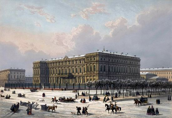 St. Petersburg in the 1850s in Daziaro lithographs, Russia, picture 22