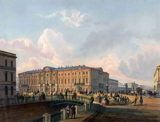St. Petersburg in the 1850s in Daziaro lithographs, Russia, picture 23