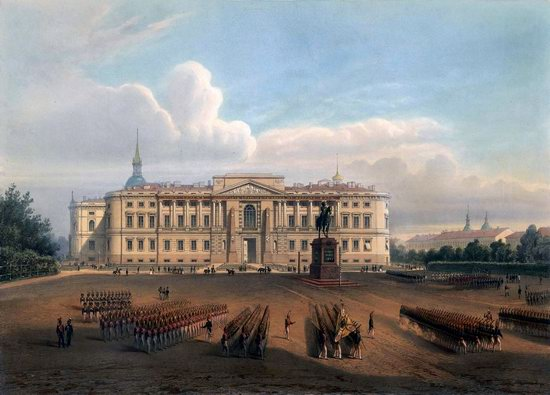 St. Petersburg in the 1850s in Daziaro lithographs, Russia, picture 24