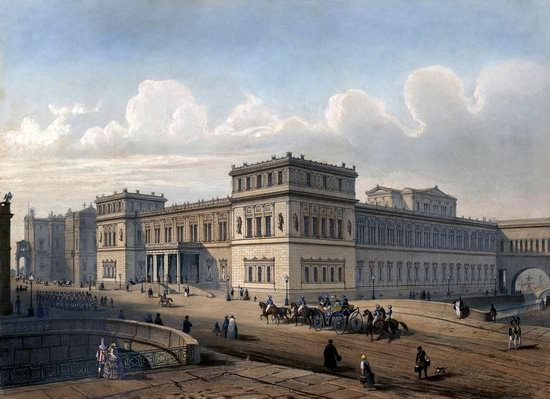 St. Petersburg in the 1850s in Daziaro lithographs, Russia, picture 25
