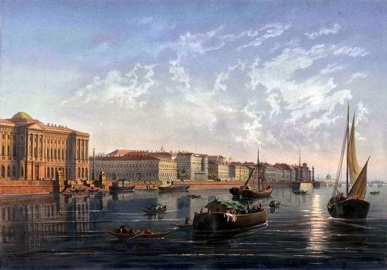 St. Petersburg in the 1850s in Daziaro lithographs, Russia, picture 26