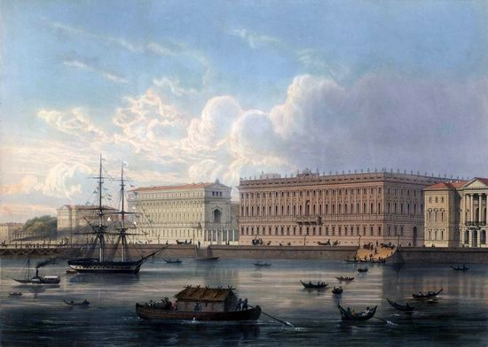 St. Petersburg in the 1850s in Daziaro lithographs, Russia, picture 27