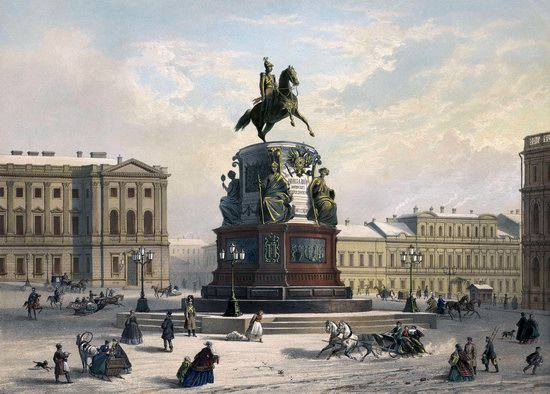 St. Petersburg in the 1850s in Daziaro lithographs, Russia, picture 28