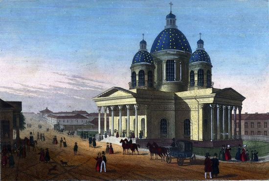 St. Petersburg in the 1850s in Daziaro lithographs, Russia, picture 4