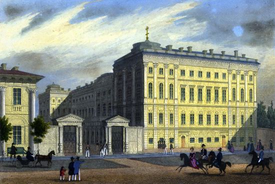 St. Petersburg in the 1850s in Daziaro lithographs, Russia, picture 5