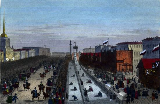 St. Petersburg in the 1850s in Daziaro lithographs, Russia, picture 7