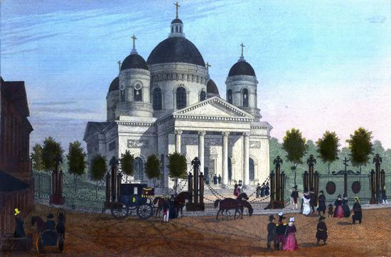 St. Petersburg in the 1850s in Daziaro lithographs, Russia, picture 8