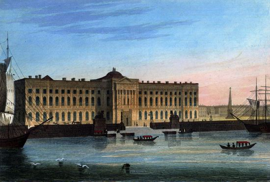 St. Petersburg in the 1850s in Daziaro lithographs, Russia, picture 9
