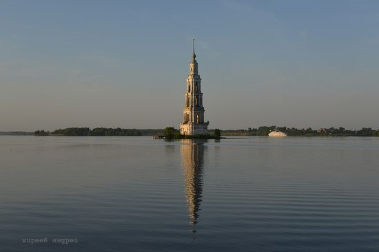 Flooded bell tower, Kalyazin, Tver region, Russia, photo 6