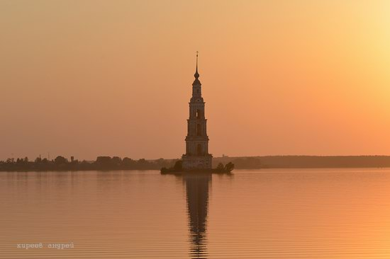 Flooded bell tower, Kalyazin, Tver region, Russia, photo 9